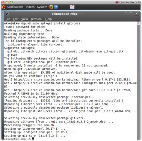 git tutorial for ubuntu step by step install git on osx ubuntu and windows