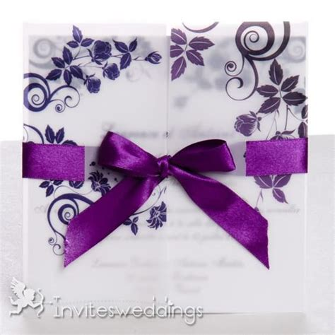 Cheap Purple Wedding Invitations by Cheap Wedding Invitations 1974221 Weddbook