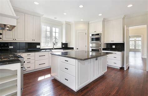 White Kitchen Cabinets Black Granite Countertops Black Granite Countertops Colors Styles Designing Idea