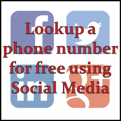 Search By Phone Number For Free Lookup A Phone Number For Free Using Social Media Best