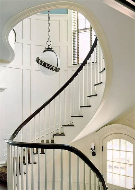 Winding Stair White Board And Batten Design Decor Photos Pictures