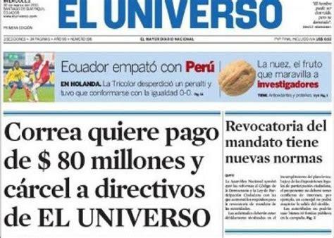 clasificados diario el universo en guayaquil guayas directivos del diario el universo pagar 225 n 40 millones al