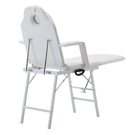 tattoo chair amazon 73 quot portable white table chair spa