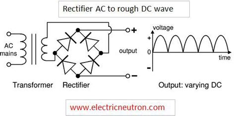 how to use capacitor to smooth dc rectifier electrical engineering centre