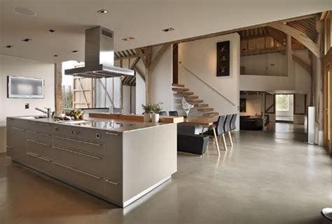 Modern Barn Kitchen by 20 Stunning Barn Conversions That Will Inspire You To Go The Grid Brit Co