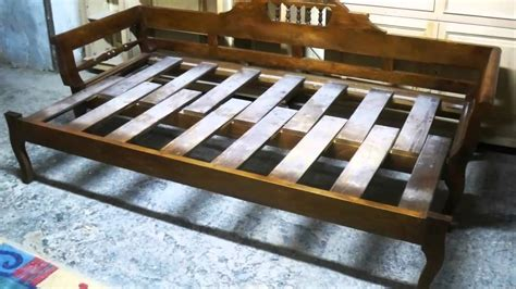 Folding Wooden Bed Wooden Sofa Bed
