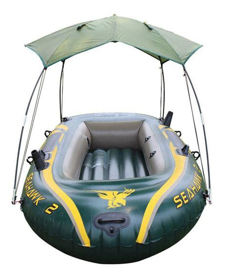 inflatable fishing boat with canopy canopy for seahawk inflatable boat 2 person sun shelter