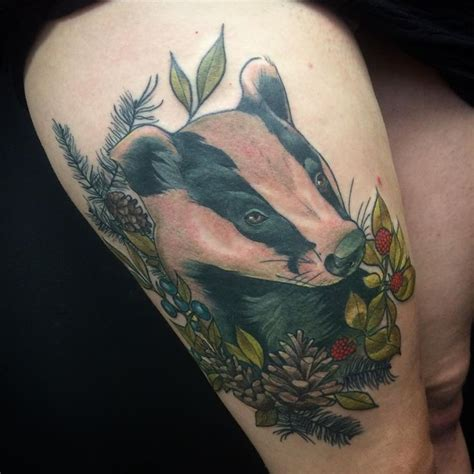 badger tattoo 13 best badger tattoos images on badger