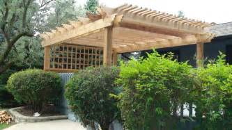 Pergola Plans Free Standing by Amazing Free Standing Pergola On Deck Garden Landscape