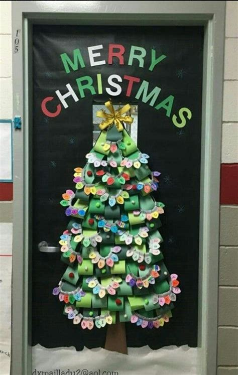 diy christmas tree classroom door decorations 134 best classroom doors n more images on decorated doors door