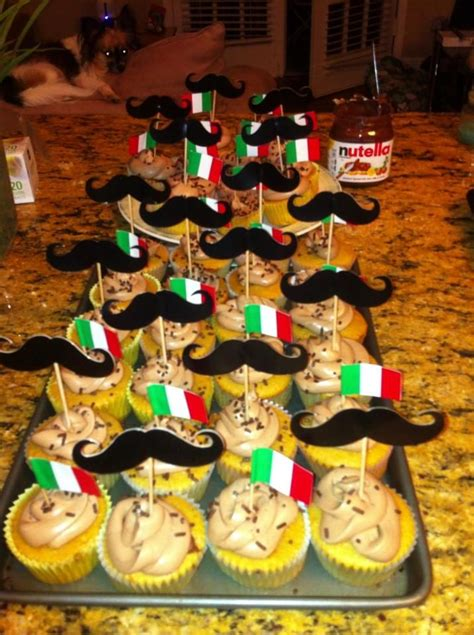 nutella cupcakes italian themed party birthday party