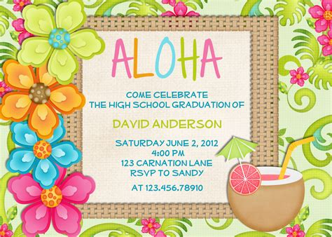 free printable birthday invitations luau luau birthday invitation sweet 16 tropical hawaiian hula party