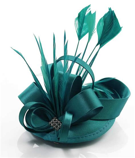 teal fascinator hat wholesale teal mesh hat feather fascinator on clip