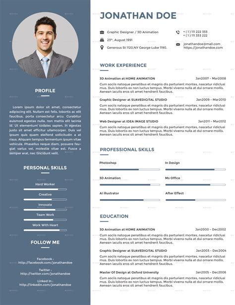 Resume Creative by Clean Creative Resume V2 By Suavedigital Graphicriver