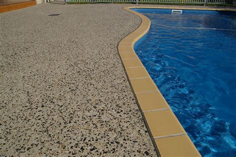 pool side concrete pebble style available in various colours portfolio for residential