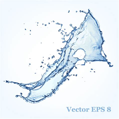 water effect design vector transparent water splash effect vector background 16