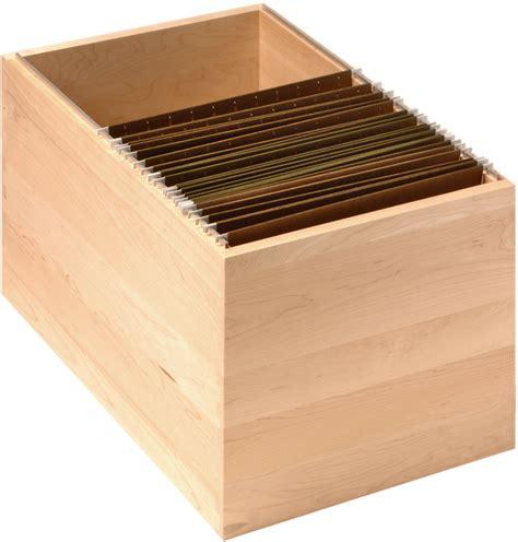 Hanging file slot for drawer boxes walzcraft