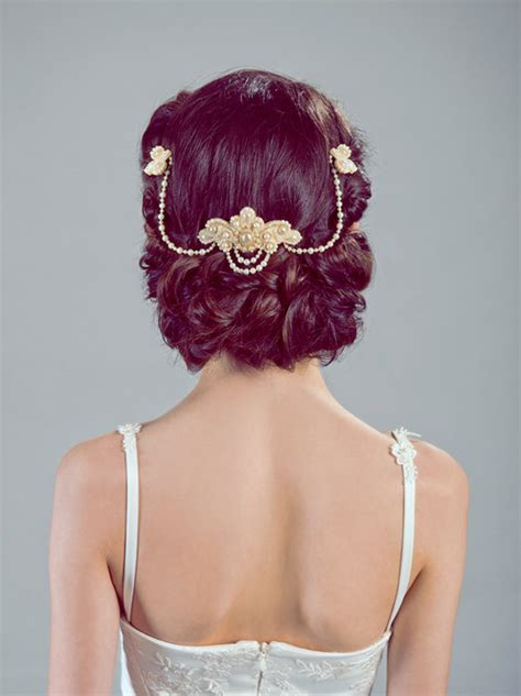 wedding hairstyles with pearls wedding accessories 20 charming bridal headpieces to match