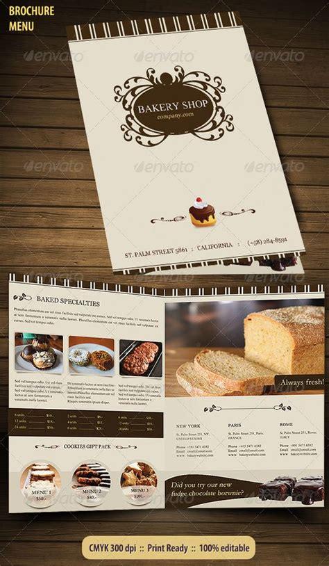 bakery menu brochure restaurant bakeries and food menu