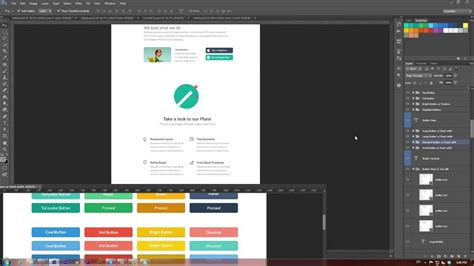 website tutorial video how to create a website in flat design style video