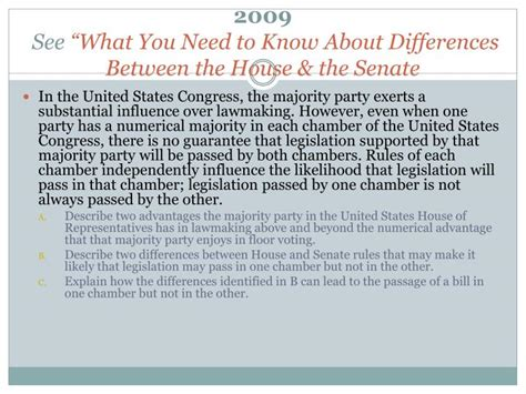 differences between the house and the senate ppt frq review powerpoint presentation id 1164289