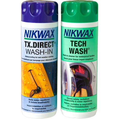 wash in color shoo nikwax tech wash and tx direct wash in duo pack 300ml