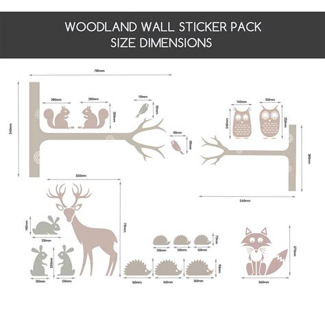 Woodland Animals Wall Stickers friendly woodland animals wall stickers by snuggledust