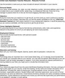 child care resume sle residential care assistant resume sales assistant