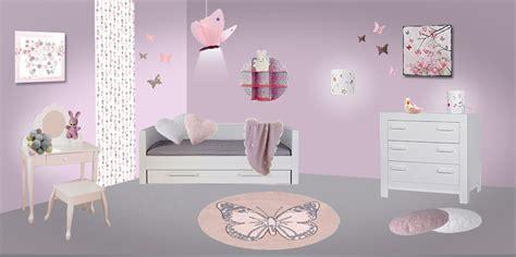 chambre fille papillon deco chambre fille theme papillon visuel 6