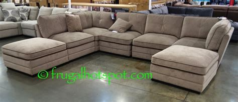 modular sectional costco costco bainbridge 7 pc modular fabric sectional 999 99
