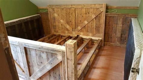 diy upholstered headboard and footboard king size pallet bed with headboard footboard 101 pallet ideas