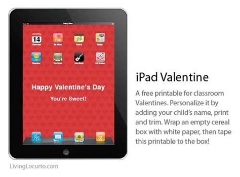 free printable gift certificates for ipad 50 cute free printables for valentines day