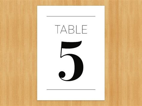 printable table number templates 5 best images of 4x6 printable table numbers wedding