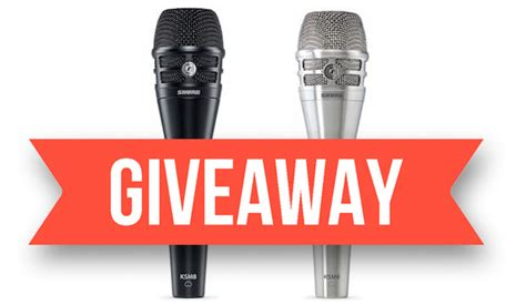 Microphone Giveaway 2016 - performer magazine the musician s resource
