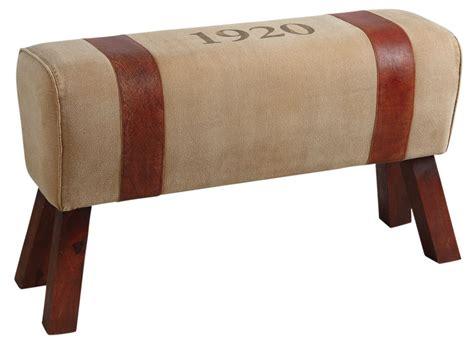 banc en cuir banc en coton et cuir