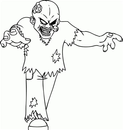 terrible zombie coloring pages halloween cartoon