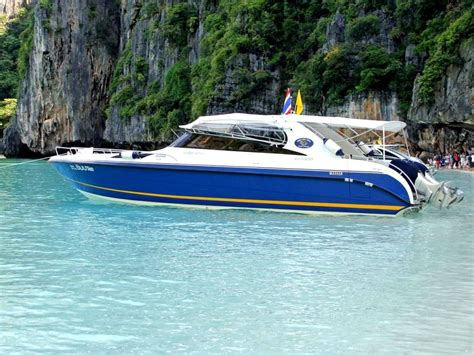 speed boat to phi phi island four islands by speed boat tour krabi planet rovers