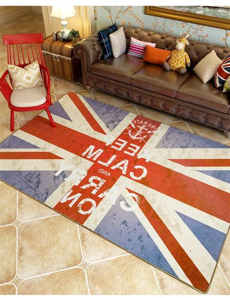 carpet deco living in style rugs keep calm and carry on floor carpet uk flag style