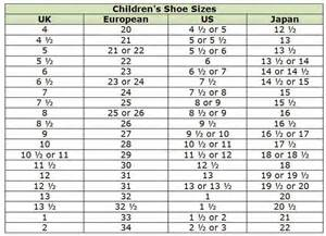 Galerry kid clothing size conversion chart