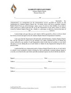 vehicle release form template liability release letter free printable documents
