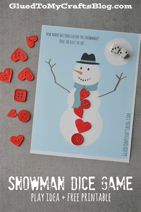 printable snowman dice game snowman dice game free printable best free printable