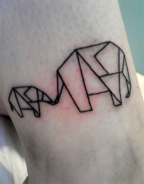 tattoo elephant geometric animal tattoos and designs page 5