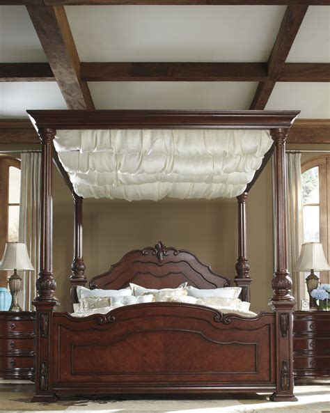 elegant bed ashley martanny elegant queen draped canopy bed houston