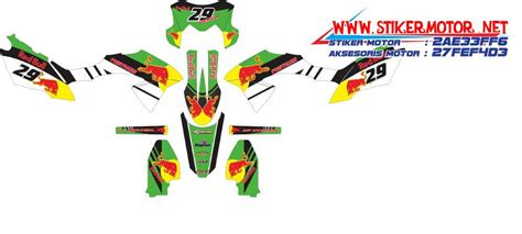 Striping X Ride Fox Hijau kawasaki stikermotor net part 3