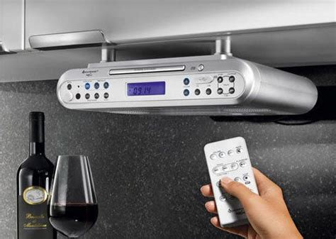 Radio Under Kitchen Cabinet | under cabinet radio am fm bluetooth cd player clock