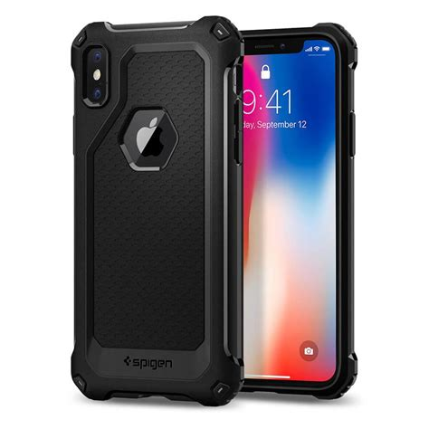 Spigen Apple Iphone X Liquid Matte Black 057cs22119 spigen 174 liquid 057cs22119 iphone x matte