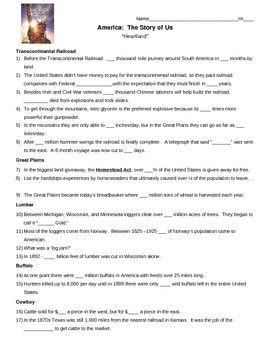 America Story Of Us Cities Worksheet by America The Story Of Us Episode 6 Heartland