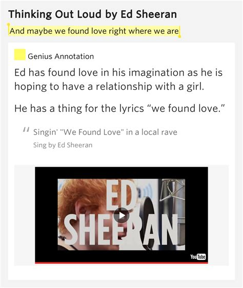 ed sheeran i found a girl lyrics and maybe we found love right where we are thinking out loud