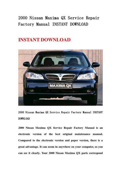 2000 nissan maxima qx service repair factory manual instant download by jsehfbse issuu