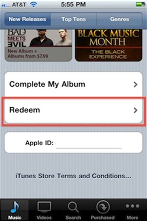 Redeem Itunes Gift Card Iphone - redeem an itunes gift card
